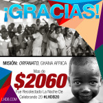 $2060 para Ghana, Africa