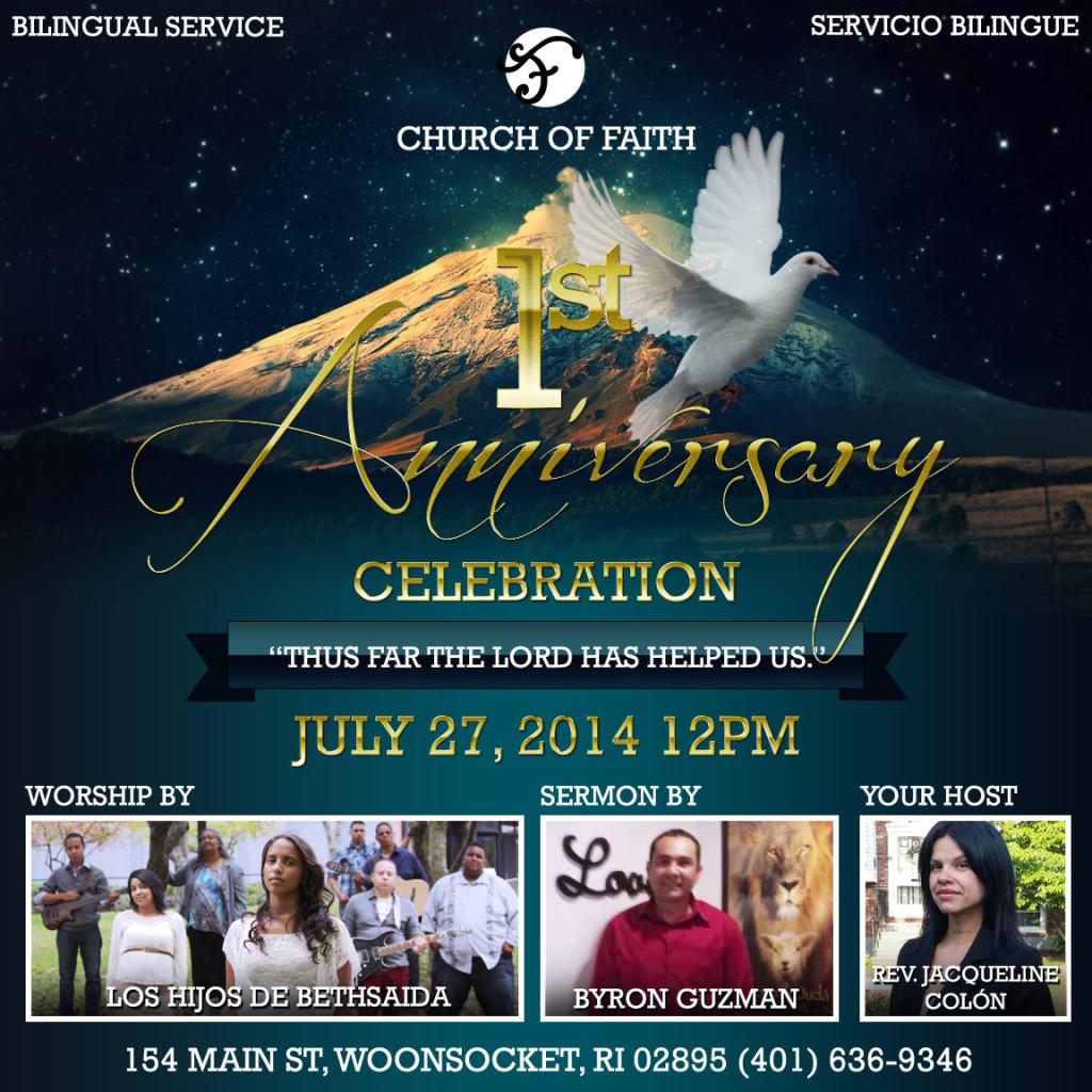 Church of Faith - Ist Anniversary